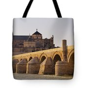 Mosque-cathedral And The Roman Bridge In Cordoba Tote Bag