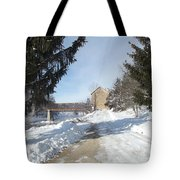 Motor Mill Winter Tote Bag