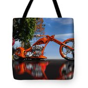 Motorcycle Reflections Tote Bag