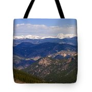 Mount Evans And Continental Divide Tote Bag