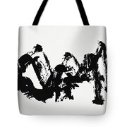 Mountain Avant-garde Calligraphy Tote Bag