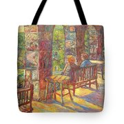 Mountain Lake Evening Tote Bag