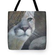 Mountain Lion Painterly Tote Bag