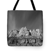 Mountain Peaks And Shimmering Sky Tote Bag
