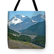 Mountain Peaks From Icefields Parkway-alberta Tote Bag