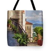 Mountain Village Impasto Tote Bag