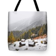 Mountain With Snow Tote Bag
