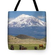 Mt Shasta Cattle Ranch Tote Bag