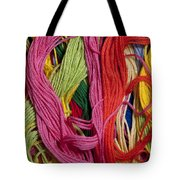 Multicolored Embroidery Thread Mixed Up  Tote Bag