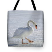 Mute Swan On St Clair River Tote Bag