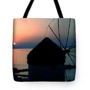 Mykonos Island Greece Tote Bag