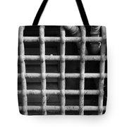 N Y C Grates In Black And White Tote Bag