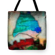 Nashville Skyline And Map Watercolor Tote Bag by Marvin Blaine