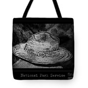 National Park Service Ranger Hat Black And White Tote Bag