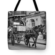 New Orleans - Carriage Ride Bw Tote Bag