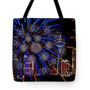 Niagara Fireworks Tote Bag