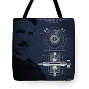 Nikola Tesla Patent From 1891 Tote Bag