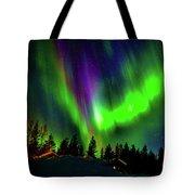 Northern Lights, Lapland, Sweden Tote Bag