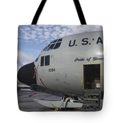 Nose Cone Detail On A Lc-130h Aircraft Tote Bag