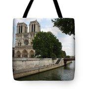 Notre Dame Along The Seine Tote Bag