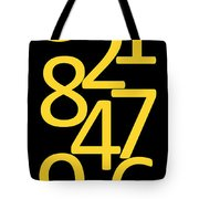 Numbers In Yellow And Black Tote Bag