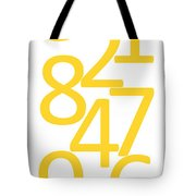 Numbers In Yellow Tote Bag