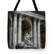 Ny Library Lion Tote Bag