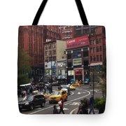 Nyc Street Scene Tote Bag