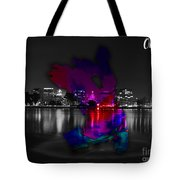 Oakland Map And Skyline Watercolor Tote Bag