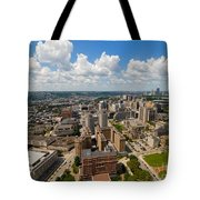 Oakland Pitt Campus With City Of Pittsburgh In The Distance Tote Bag