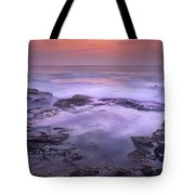 Ocean And Lava Rocks At Sunset Puuhonua Tote Bag