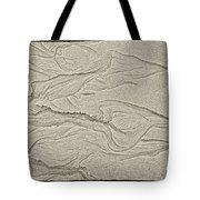 Ocean Sand Art Hearts Left Side Tote Bag