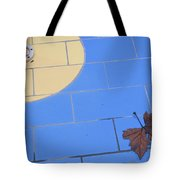 Off-season Swimming Pool Close-up With Leaf Tote Bag