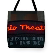 Ohio Theater Marquee Theater Sign Tote Bag