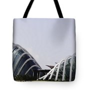 Oil Painting - Both Of The Conservatories Of The Gardens By The Bay In Singapore Tote Bag