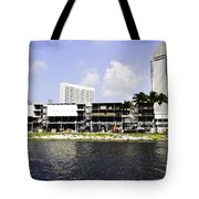 Oil Painting - View Of The Preparation For The Formula One Race In Singapore Tote Bag