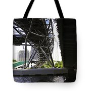 Oil Painting - View Under The Bayfront Bridge And Helix Bridge In Singapore Tote Bag