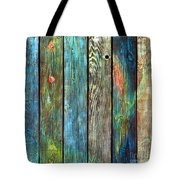 Old Barnyard Gate With Colors Brightened Tote Bag