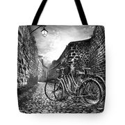 Old Bicycles On A Sunday Morning Tote Bag