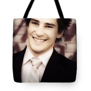 Old Fashion Business Service With A Smile Tote Bag