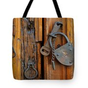 Old Lock, Mexico Tote Bag