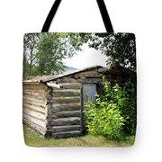 Old Log Homestead Tote Bag