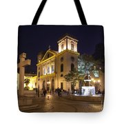 Old Portuguese Colonial Church In Macau Macao China Tote Bag