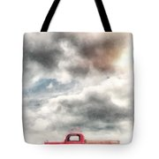 Old Red Ford Pickup Tote Bag