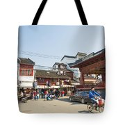 Old Town Of Shanghai China Tote Bag