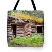 Old Traditional Log Cabin Rotting In Yukon Taiga Tote Bag