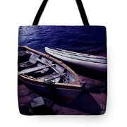 Old Wooden Boats At Night Tote Bag