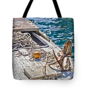 Old Wooden Fishing Boat Detail Tote Bag