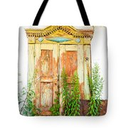 Old Wooden Window Tote Bag