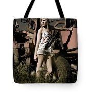 On The Farm At Dusk Tote Bag
